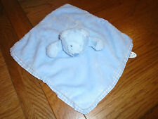 Jelly kitten blue teddy bear comfort blanket with gingham trim