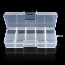 Storage Case Box 10 Compartment for Nail Art Tip Jewelry Cosmetic Trinket New BO