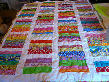 Girl Handmade Handcrafted Pieced Chinese Coin Baby Crib Throw lop Quilt 40x50