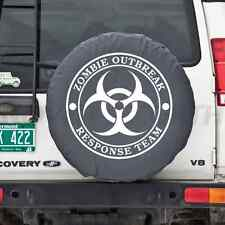 Universal Black Zombie Breakout Response Team Spare Tire Cover New Free Shipping