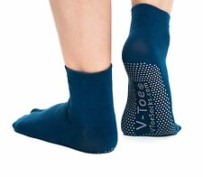 1 Pair - V-Toe Flip Flop Tabi Socks Casual Blue Nonskid Solid - Yoga & Hospital