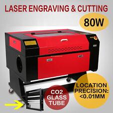 80W CO2 Machine de gravure de laser de gravure de laser + Engraver axe rotatif