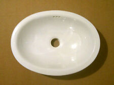 #074) SMALL 16x11.5 MEXICAN BATHROOM SINK CERAMIC DROP IN UNDERMOUNT BASIN