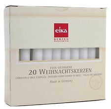 "Eika 20 Pieces Christmas Tree Candle Set Made in Germany, 4.1"", White"
