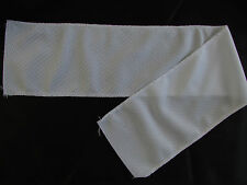 "WHITE CCM AIR KNIT NAME BAR / NAMEPLATE MATERIAL HOCKEY JERSEYS 4"" x 24"""
