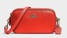 Coach Pouch In Pebbled Leather Crossbody!! Nwt!! Msrp $198.00