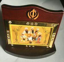 Guru Nanak Gobind Singh Ji Ten Gurus Photos Portrait Sikh Khanda Desktop Stand