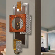 Modern Metal Wall Art, Abstract Pendulum Wall Clock - Tectonic by Jon Allen