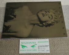 With ORIGINAL GIG TICKET stub! Madonna JAPAN tour book 1987 - others in stock!