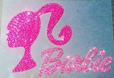 Barbie Girl Rhinestone Glitter Bling Car Window Decal Sticker