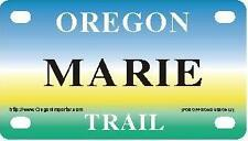 MARIE Oregon Trail - Mini License Plate - Name Tag - Bicycle Plate!