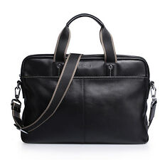 Top Men's Genuine Real Leather Briefcase Messenger Laptop Bag Shoulder Handbag