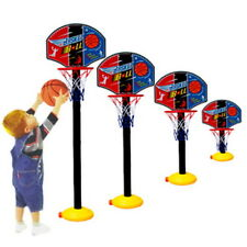 Kids Sports Portable Basketball Toy Set with Stand Ball & Pump Toddler Baby FT