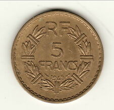 5 FRANCS BRONZE ALU 1945C=CASTELSARASSIN  b1 t8   COTE 30 EURO