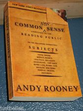 Common Nonsense by Andy Rooney *FREE SHIPPING*  1586482009