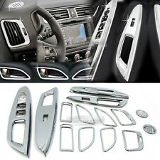 Chrome Window Switch Air Vent Door Catch Molding 14Pcs for KIA 2012-17 Rio Pride