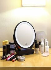 Magnifying Mirror With Light 2 Sided Makeup 15X Magnification USB Charge Drawer