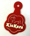 Kickers Flower Fleurette Badge Tab Red My First Kickers For Spare or Keb Fob New