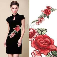 Flower Sew Patches Applique Trim Badge Embroidered Bust Dress Cheongsam Decor