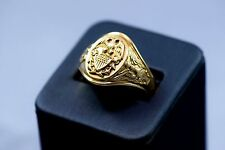 WWII US Navy Officer's Crest 10K Gold Ring USN US Must See
