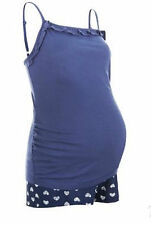 New Look Blue Hearts Maternity pjs, Shorts & strappy top.Size Small. 8-10.BNWT