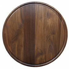 Round Wood Cutting Board, Walnut Cheese Serving Tray and Charcuterie Platter