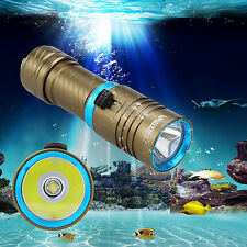 6000LM Underwater 100m XML L2 LED Scuba Diving Flashlight Torch Light Hunting