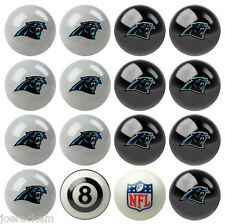 NFL Pool ball set - Carolina Panthers Home and Away!!  FREE US SHIP
