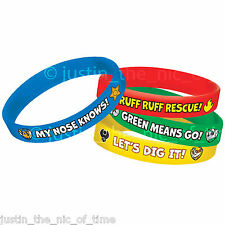 PAW PATROL Boys Girls Birthday Party Bag Fillers Gifts RUBBER BRACELETS x4