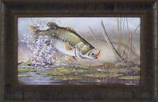"""FREQUENT FLYER"" Scott Zoellick 14x22 FRAMED PRINT S/N L/E Largemouth Bass Fish"