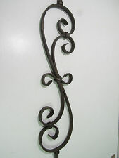 "44"" SOLID IRON SCROLL BALUSTER STAIR RAIL ANTIQUE BRONZE*****NEW*****"
