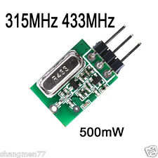 433MHz /315MHz Wireless Transmitter Module 2.2-12V 500mW ASK/OOK Alarm Remote