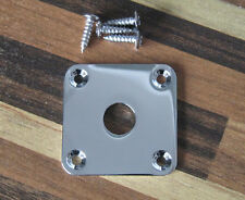 Flat Metal Jack Plate Square Jackplate for Les Paul Chrome