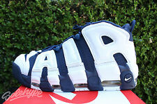NIKE AIR MORE UPTEMPO SZ 14 PIPPEN WHITE NAVY BLUE GOLD RED OLYMPIC 414962 104