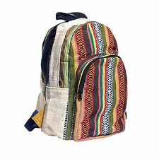 Natural Eco Boho cotton Backpack-Red Multi-90413