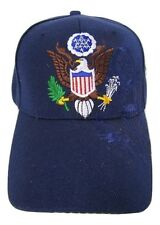 United States President Presidential Seal Dark Blue Shadow Embroidered Cap Hat