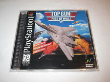 Top Gun: Fire At Will! (PlayStation PS1) Black Label Game Complete Excellent!