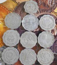 10 pcs YEAR SET - 10 Paise Aluminium Commemorative Coin - india