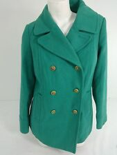 OLD NAVY WOMENS AQUA TURQUOISE WOOL BLEND PEACOAT JACKET COAT SIZE M SUPER CUTE!