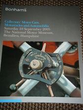 BONHAMS AUCTION CATALOGUE SEPTEMBER BEAULIEU 2005 LOTUS ELAN S3 MGB GT BUGATTI