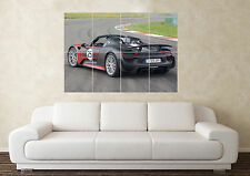 Large Porsche 918 Spyder SuperCar Sports Car Wall Poster Art Picture Print