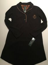 Lauren By Ralph LAuren Womans Pajama sleep shirt Fleece Black NWT Size M