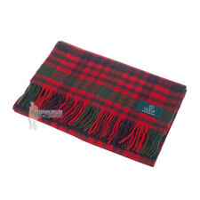 PURE NEW WOOL TARTAN CLAN SCARF - GREAT GIFT - ROSS RED