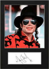 MICHAEL JACKSON #6 Signed Print A5 Mounted Photo Print - FREE DELIVERY