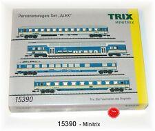 """Trix Minitrix 15390 Wagen-Set """"ALEX"""" 4-teilig mit Innenbeleuchtung #NEU in OVP#"""