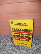 Testament richtig gemacht, Vermögen klug verteilt, von Andreas Fuchs, aus dem He