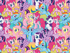 MY LITTLE PONY PACKED PONIES  100% COTTON FABRIC SPRINGS CREATIVE HASBRO YARDAGE