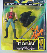 Kenner BATMAN Forever Action Figure~ STREET BIKER ROBIN~ MOC~ 1995 Movie
