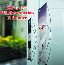 """Window / Glass X Banner Stand Suction Cup 24"""" x 47"""" Graphic Not Incude Promotion"""