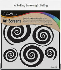 Swirls Layering Stencil Art Screen for Paper Crafts, Home Decor and More!